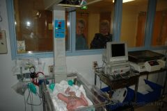 In the nursery right after birth